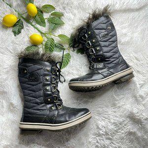SOREL Tofino II Faux Fur Waterproof Black boots